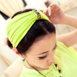 Bred Square Rivet Knot Hair Band