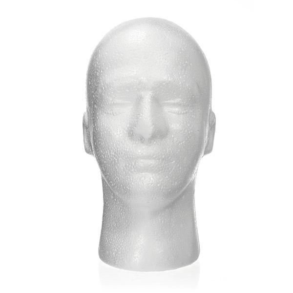 Paryk Hat Holder Glasses Male Foam Dukke Hoved Stand Model Display Hårpleje / Produkter