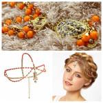 Women 's Trendige Crown wulstige Kristallperlen Haarschmuck Kopfband Haarpflege & Salon