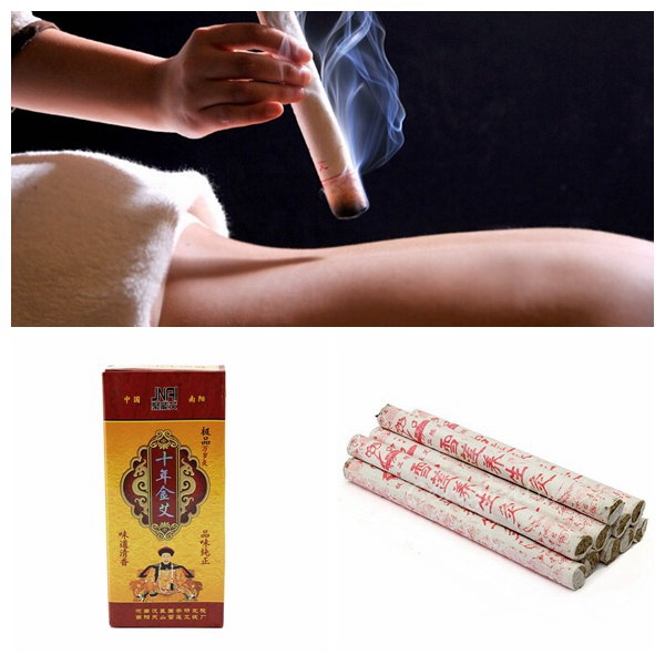 10PCS Tens Years Old Moxa Moxibustion Roll Stick Health Care