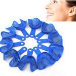 10stk Stahl Kunststoff Zahnabdrucklöffel Prothesenmodellmaterialien Gesundheitsprodukte