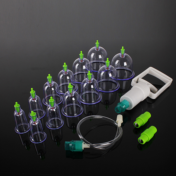 12 Body Cupping Healthy Kit +6 Therapy Massager Magnets Health Care