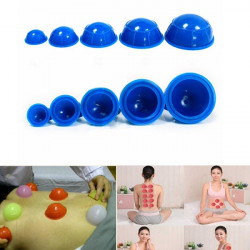 12st Cups Gummi Massage Entspannung Saughöhlende Therapy Set