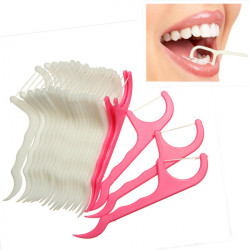 25Pcs Dental Flosser Floss Pick Toothpicks Oral Care