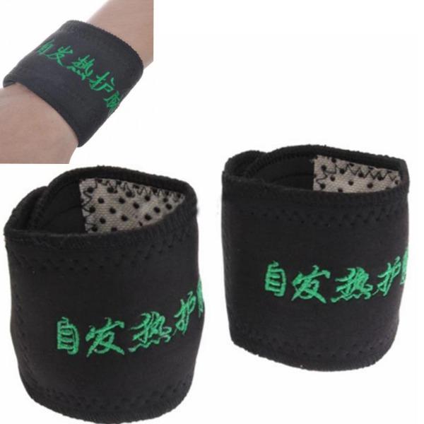 2st Turmalin självupphettande Handledsskydd magnetisk terapi Män Kvinnor Varm Fitness & Träningsutrustning