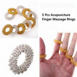 5stk Akupunktur Finger Health Pleje Massage Ringe