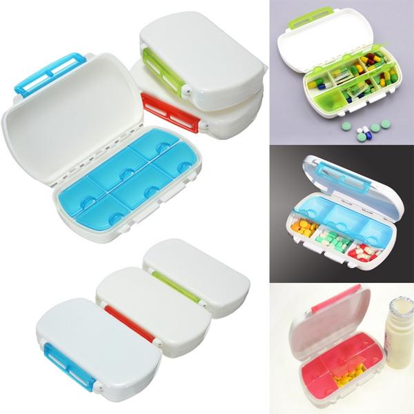 6 Celler Resemedicin Pill Tablettförvaring Case Box Hälsa
