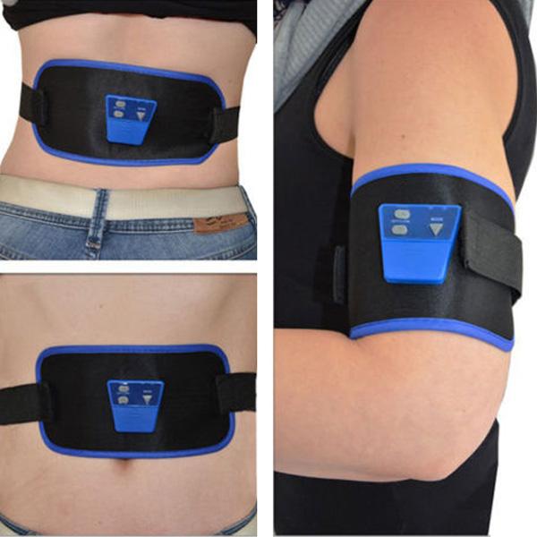 AB Gymnic Elektronisk Muskel Arm Ben Midja Buken Massage Smal Bälte Hälsa