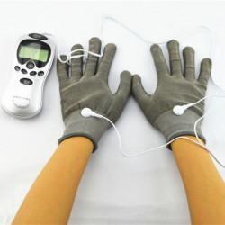 Ein Paar Elektroden Handschuhe für Akupunktur Digital Therapie