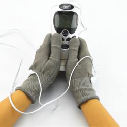Akupunktur Digital Terapi Massage med Par Elektrode Handsker