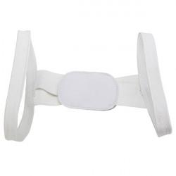 Beauty Hvid Back Posture Shoulder Support Band Belt Brace Corrector