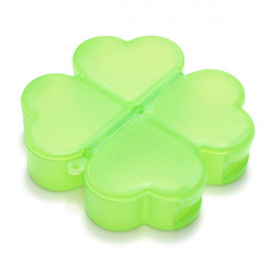 Cute Four-Leaved Clover Shape Portable Pill Storage Box Organizer