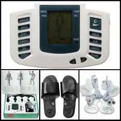 Elektronisk Digital Full Kropp Akupunktur Terapi Massering Tofflor