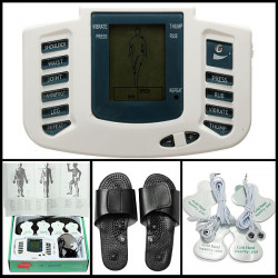 Elektronisk Digital Full Body Akupunktur Terapi Massage Slipper