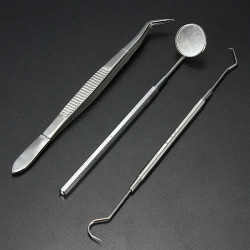 Rostfritt Stål Dental Instruments Munspegel Probe Tång Kit