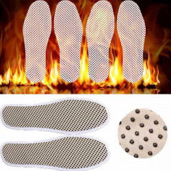 Tourmaline Self Heated Heating Magnetic Foot Massage Insole Far Infrared Warm Shoe Pad