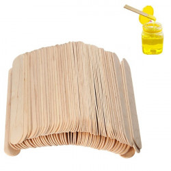 100stk Wooden Wax Stick Manicure Medical Tungespatel Sticks