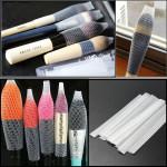 10st Kosmetisk Sminkborstar Pen Guard Mantel Mesh Skydd Skal Smink