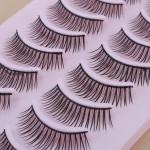 10 Par Naturliga Lösögonfransar Eye Lash Makeup 043