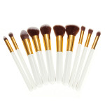 10Pcs White Foundation Makeup Tools Cosmetic Brushes Set Kit Makeup