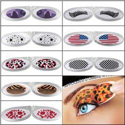 10 Style Øjeblikkelig Midlertidig Eye tatovering Transfer Eyeliner Øjenskygge Stickers
