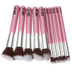 10 stk træskaft Makeup Kit Kosmetiske Børster Set