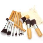 11stk Wood Handle Makeup Kosmetiske Børste Pensel Øjenskygge Concealer Børstees Sæt Makeup