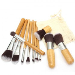11pcs Wood Handle Makeup Cosmetic Brush Eyeshadow Concealer Brushes Set
