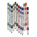 12 Farve Plast Glitter Lip Øjenbryn Eyeliner Pencil Pen Kosmetiske Sæt Makeup