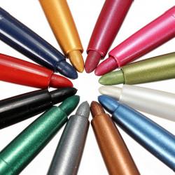 12 Farver Øjenskygge Eyeliner Lip Liner Pen Sæt