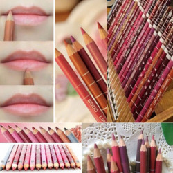 12 Colors Lip Liner Set 15cm Long Lasting Makeup Pencil