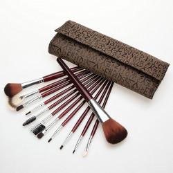 12stk Makeup Børste Øjenskygge Børster Pensler Sæt Kit Letter Case