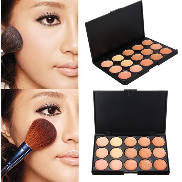 15 Colors Face Camouflage Cosmetic Cream Facial Concealer Palette Makeup