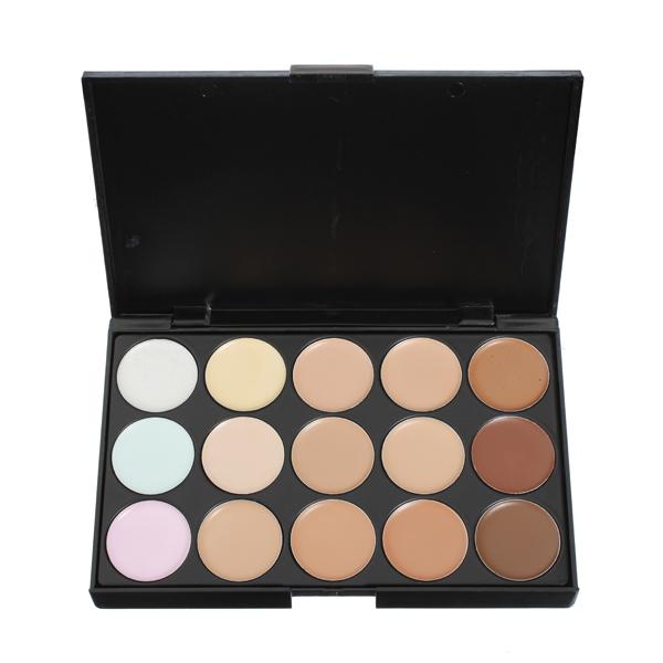 15 Farver Flawless Makeup Concealer Foundation Paletten Sæt Makeup