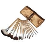 15stk Kosmetisk Makeup Pulver Børste Sæt Foundation Læder Taske Makeup