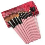 15 pcs Makeup Brush Set Cosmetics Brushes With Snake Pattern Case Makeup