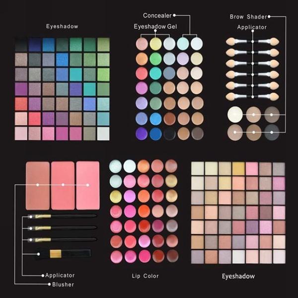 177 Farben Make up Lidschatten Rouge Gesichtspuder kosmetische Palette Set Schminke