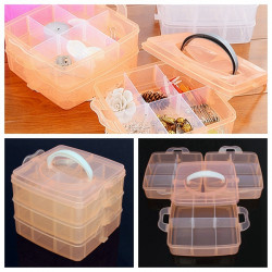 18 Gitre Transparent Kosmetiske Negle Tipper Container Opbevaring Box Case