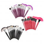 18pcs Portable Makeup Cosmetic Brush Tool Set Kit 3 Colors Makeup