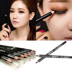 2stk Sort Glat Eyeliner Pencil Lange Lasting Makeup Værktøj