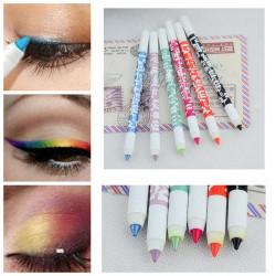2st Vattentät Glitter Ögonskugga Eyeliner Pen Pencil