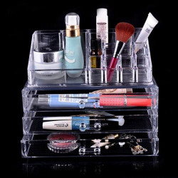 2 Former Akryl Clear Cosmetic Organizer Makeup Container Opbevaring
