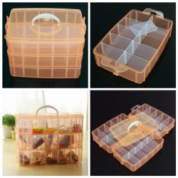 30 Gitre Medium Size Transparent Kosmetiske Negle Tipper Container Opbevaring Box