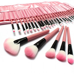 32 st Rosa Ögonskugga Ögonbryn Blush Makeup Sminkborstar Kosmetisk Set
