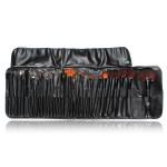 32Pcs Cosmetic Makeup Hair Brushes Kit Set Black Bag Makeup