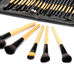 32 pcs Brown Eyeshadow Eyebrow Blush Makeup Brushes Cosmetic Set