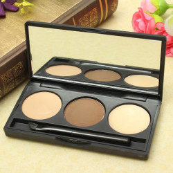 3 Colors Eyebrow Powder Eye Brow Palette Makeup Cosmetic
