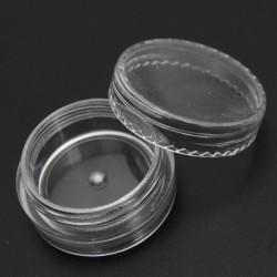 3ml Empty Transparent Cosmetic Jar Pot Ornament Cream Container