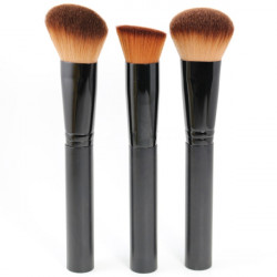 3stk Multi-Function Blush Makeup Pulver Foundation Børste Sæt