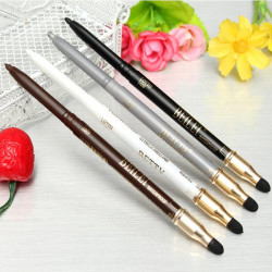 4 Farver 2 I 1 Eyeliner Pencil & Øjenskygge Sponge Pen Makeup Værktøj